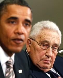 Former Secretary of State Kissinger with Obama