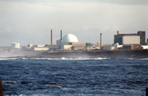 The nuclear fuel reprocessing plant at Dounreay in Scotland