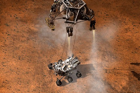 NASA's Curiosity rover touches down