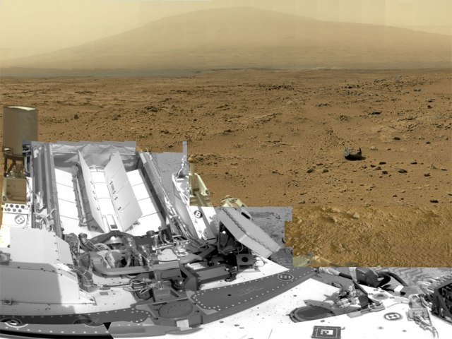 A full-circle view released by NASA on June 20, 2013, combined nearly 900 images taken by NASA's Curiosity Mars rover, generating a panorama with 1.3 billion pixels in the full-resolution version.