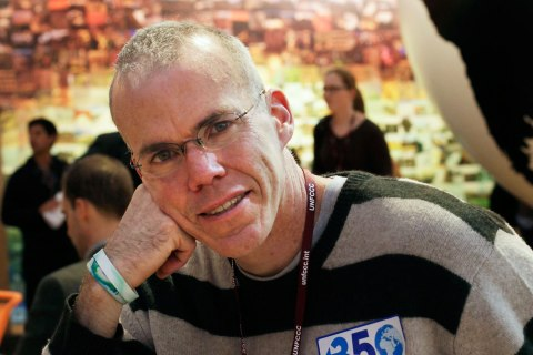 American environmentalist and writer Bill McKibben  during the Climate Conference in Copenhagen, Dec. 10, 2009.