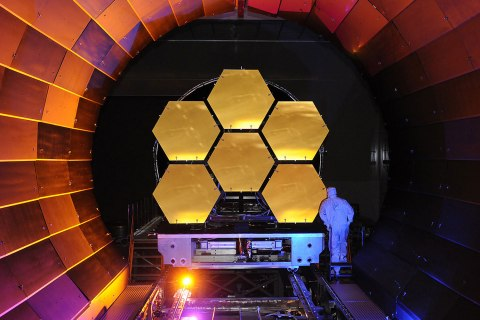 The flight mirrors for the James Webb Space Telescope undergo cryogenic testing at NASA Marshall.