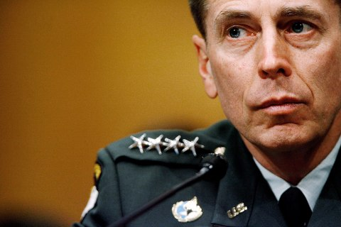 image: Gen. David Petraeus testifies before the Senate Armed Services Committe on Capitol Hill in Washington, April 8, 2008.