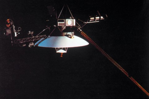 image: Voyager 1, launched on 5th September 1977.