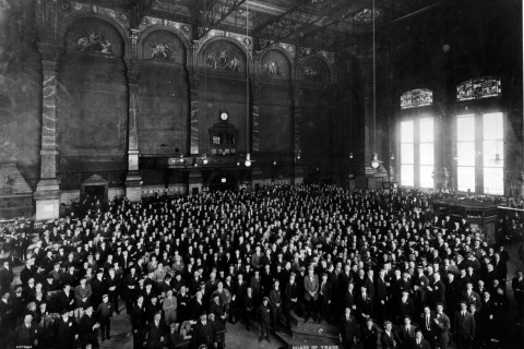 1885 PHOTOGRAPH OF THE CHICAGO BOARD OF TRADE