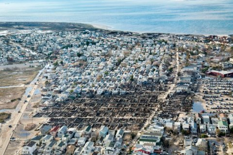 Breezy Point after the fires that destroyed many homes during Hurricane Sandy