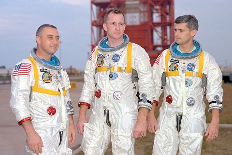 Gus Grissom, Ed White and Roger Chaffee