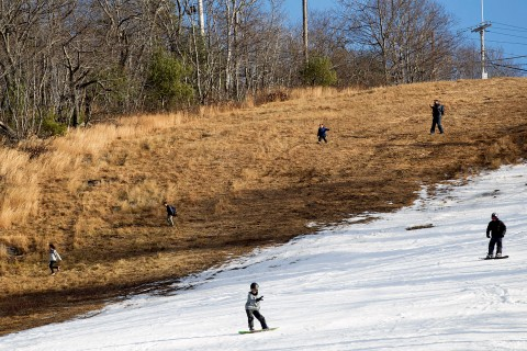 Snowsports Continue Despite A Lack Of Snow