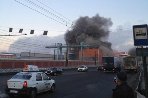 Chelyabinsk Zinc Plant after meteor shower in Russia.