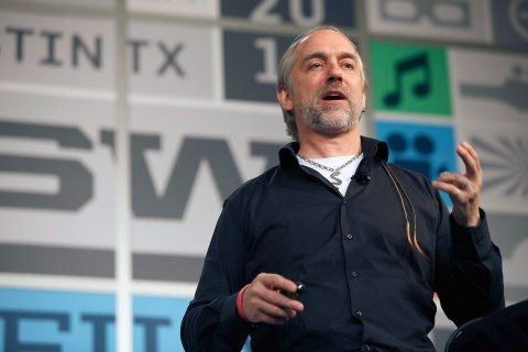 Richard Garriott de Cayeux speaks onstage at The New Golden Age Of Human Spaceflight during the 2013 SXSW Music, Film + Interactive Festival at Austin Convention Center in Austin