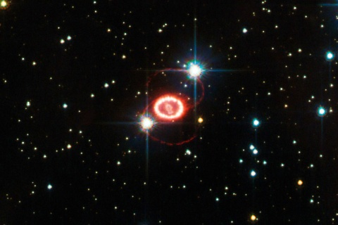 This image of Supernova SN 1987A, one of the brightest stellar explosions since the invention of the telescope, is based on observations done with the High Resolution Channel of Hubble's Advanced Camera for Surveys and was released on December 10, 2012.