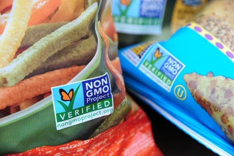 Non-GMO food products, in Los Angeles, Calif., on October 19, 2012.