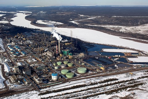 Suncor base plant, in the Athabasca Oil Sands, near Fort McMurray, Alberta, Canada, on March 26, 2013.