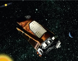 Artist's rendering of the Kepler space telescope.