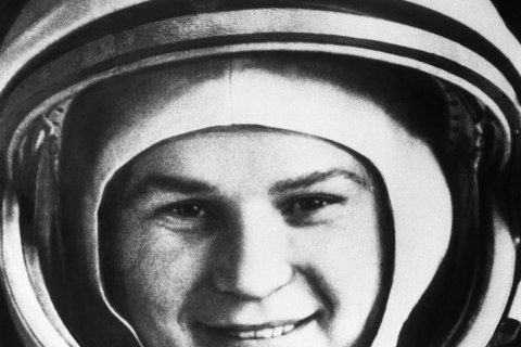 Astronaut Valentina Tereshkova, the first woman sent into space, in Moscow, on June 16, 1963.