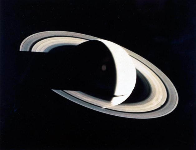 Saturn, taken by Voyager 1 in November 1980.