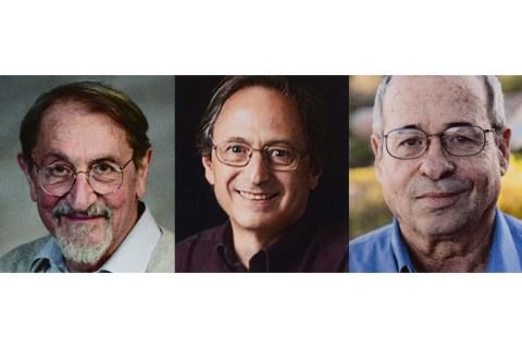 From left: Martin Karplus, Michael Levitt and Arieh Warshel.