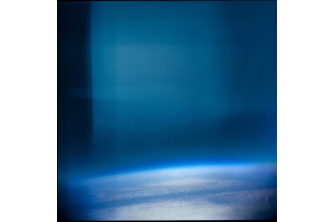 View of Earth from the Stratosphere from a Holga plastic camera