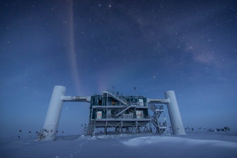 The IceCube Laboratory at the Amundsen-Scott South Pole Station, in Antarctica.