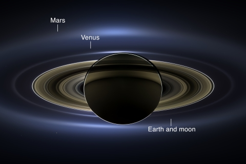 Saturn labeled