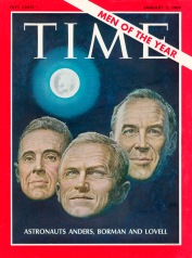 TIME's Jan. 3, 1969 issue, showing Men of the Year Apollo 8 astronauts William A. Anders, Frank Borman and Jim Lovell.