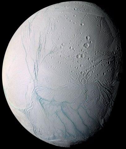 Enceladus, Cassini, July 14, 2005.