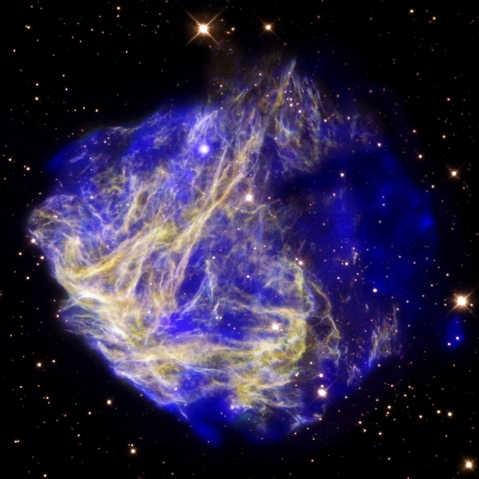 Supernova remnant, Chandra and Hubble Telescopes, July-Sept. 2009.
