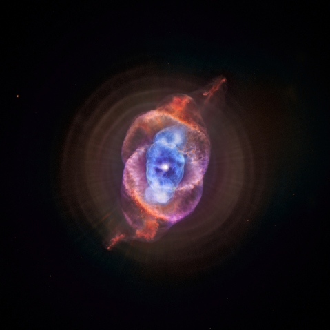 The Cat's Eye, Chandra and Hubble Telescopes, May 10, 2000.