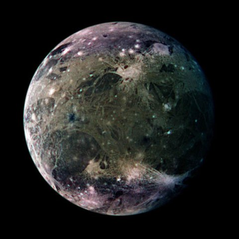Ganymede, Galileo, March 29, 1998.