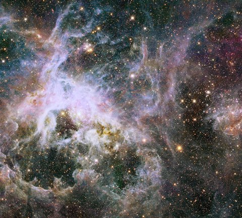 NASA's Hubble Space Telescope has captured a new view deep inside the Tarantula Nebula, where there are more than 800,000 stars and protostars.