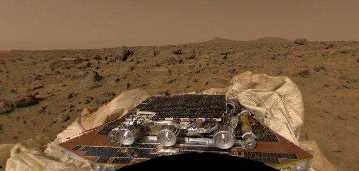 ars, Sojourner Rover, July 4, 1997.