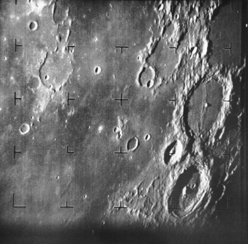 Moon, Ranger 7, July 31, 1964.