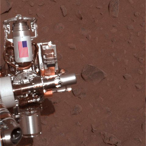 Mars, Spirit Rover, Feb. 4, 2004.