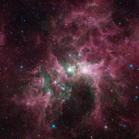 Carina Nebula, Spitzer Telescope, Aug. 22, 2013.