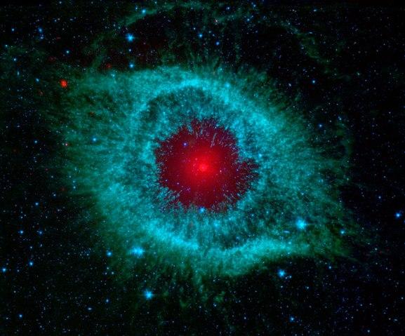 Helix Nebula, Spitzer Telescope, Feb. 12, 2007.