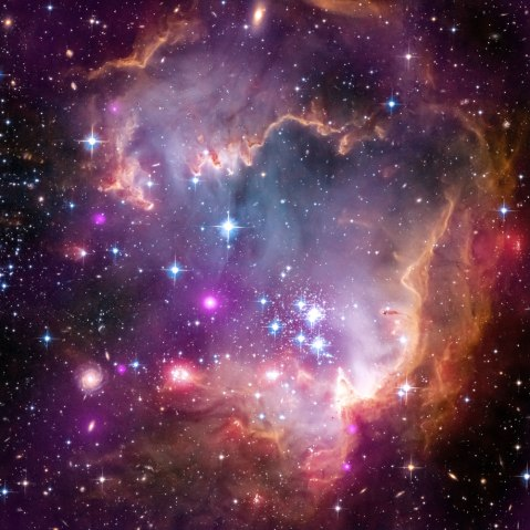 Small Magellanic Cloud, Spitzer Telescope, April 3, 2013.