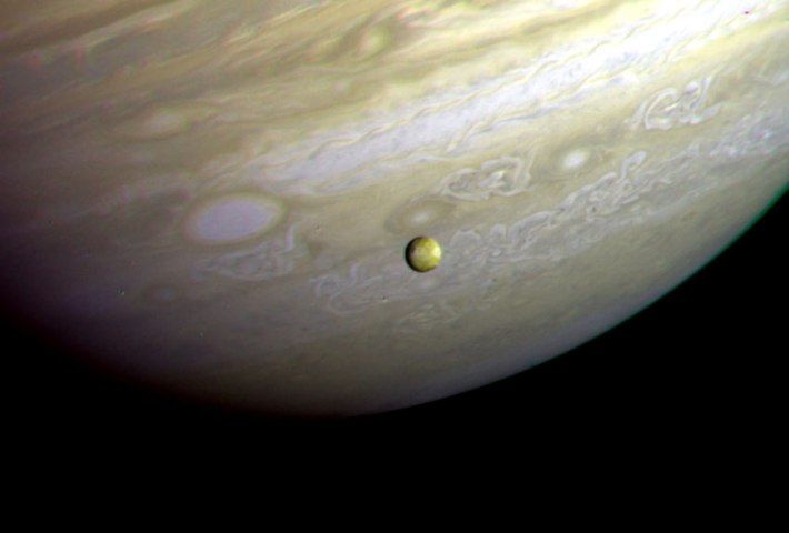 Jupiter and Io, Voyager 2, July 9, 1979.
