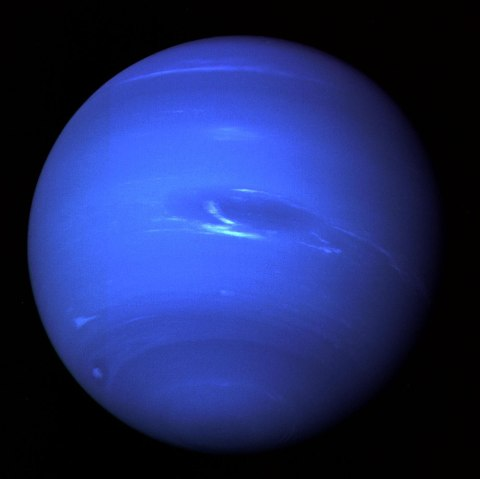 Neptune and Triton, Voyager II, 1989.