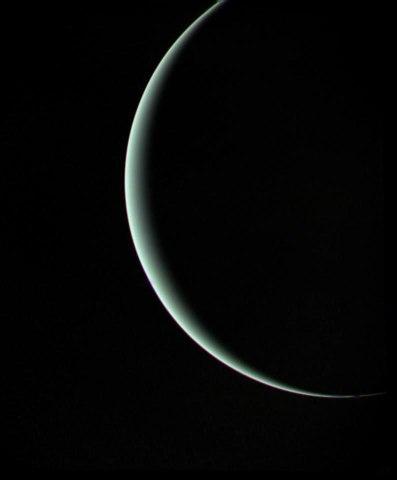 Uranus, Voyager II, Jan. 25, 1986.